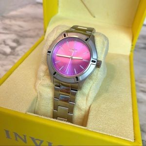 Invicta • Stainless Steel & Pink PrivDiver Watch